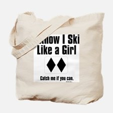 ski like a girl Tote Bag