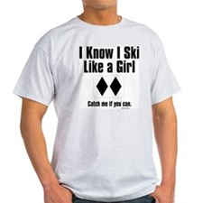 ski like a girl T-Shirt