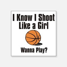 "shoot like a girl Square Sticker 3"" x 3"""
