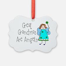 Great Grandmas Are Angels Ornament