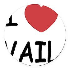 VAIL Round Car Magnet