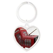 Banksy Phone Box Heart Keychain