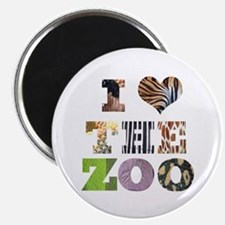 "i love the zoo 2.25"" Magnet (10 pack)"