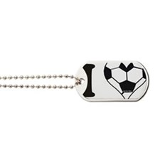 soccer heart Dog Tags
