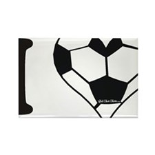 soccer heart Rectangle Magnet