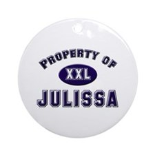 Property of julissa Ornament (Round)