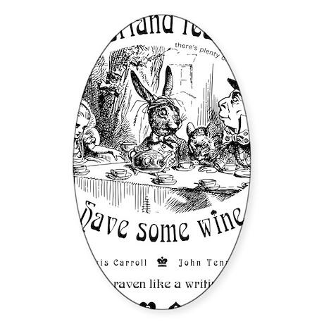 AliceInWonderland1 Sticker (Oval)