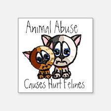 "Felines Square Sticker 3"" x 3"""