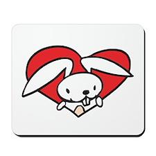 Bunny Valentine Mousepad