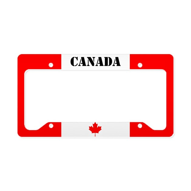 Canada License Plate Holder By Markmoore