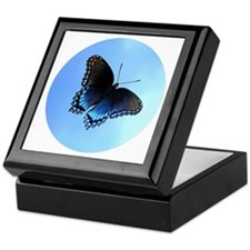 Red Spotted Purple Butterfly Buttons, Keepsake Box