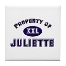 Property of juliette Tile Coaster
