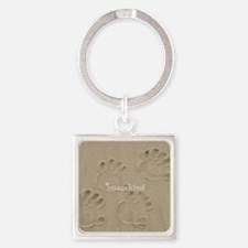 HANDS IN THE SANDS Square Keychain