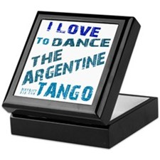 argentine_tango_love_to_dance_blue Keepsake Box