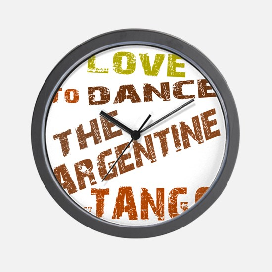 argentine_tango_love_to_dance_brown Wall Clock