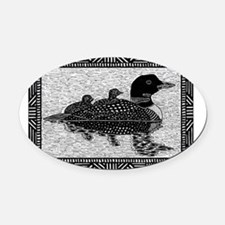 Loons Oval Car Magnet