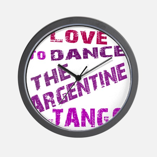 argentine_tango_love_to_dance_purple Wall Clock