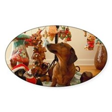 ChristmasDoxie2Mousepad Decal