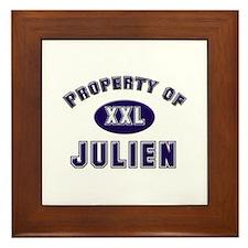 Property of julien Framed Tile