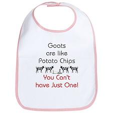Goats are Like Potato Chips Bib