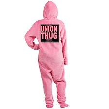 UNION THUG (black round) Footed Pajamas