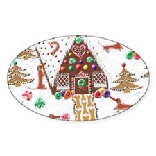 GingerbreadDachshundMousepad Decal