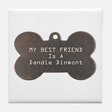 Friend Dandie Tile Coaster