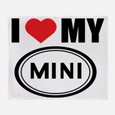 I love Mini Throw Blanket