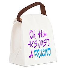 just a friend girls Canvas Lunch Bag