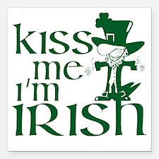 "kiss-me-irish.gif Square Car Magnet 3"" x 3"""