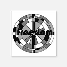 "freedom embraced Square Sticker 3"" x 3"""