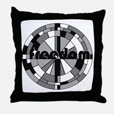 freedom embraced Throw Pillow