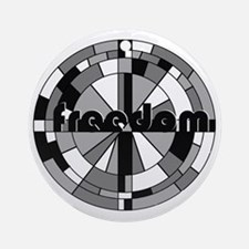 freedom embraced Round Ornament