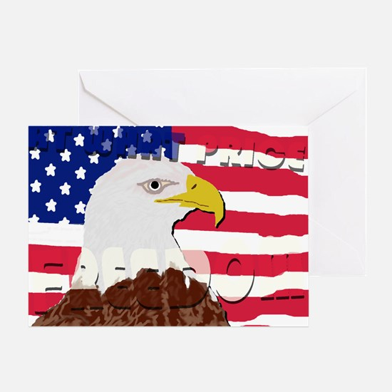 At What Price Freedom Greeting Card