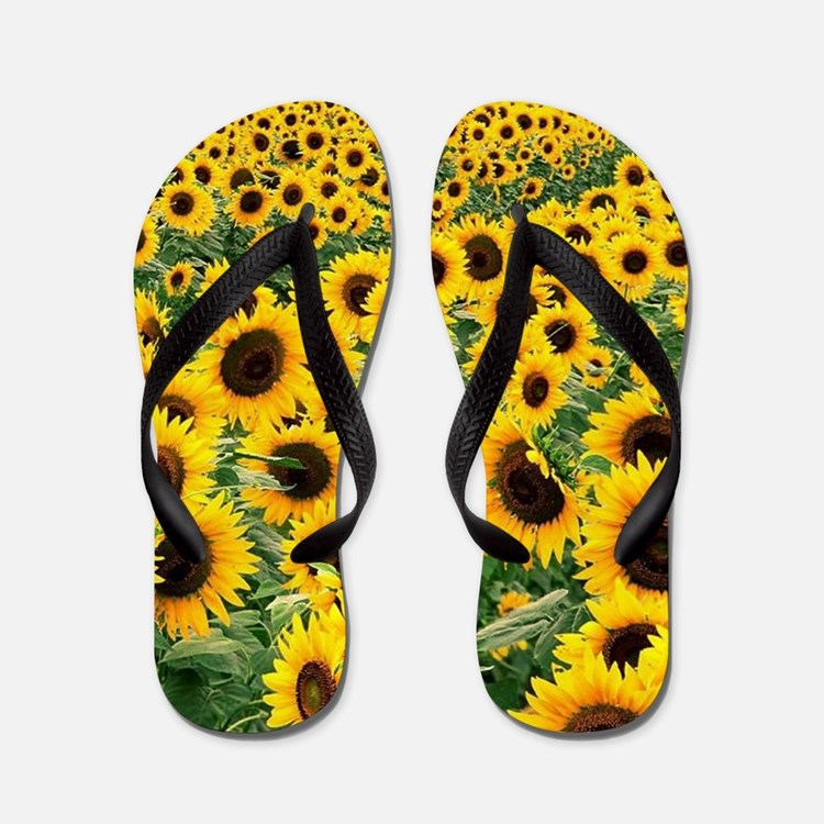 Sunflowers Flip Flops