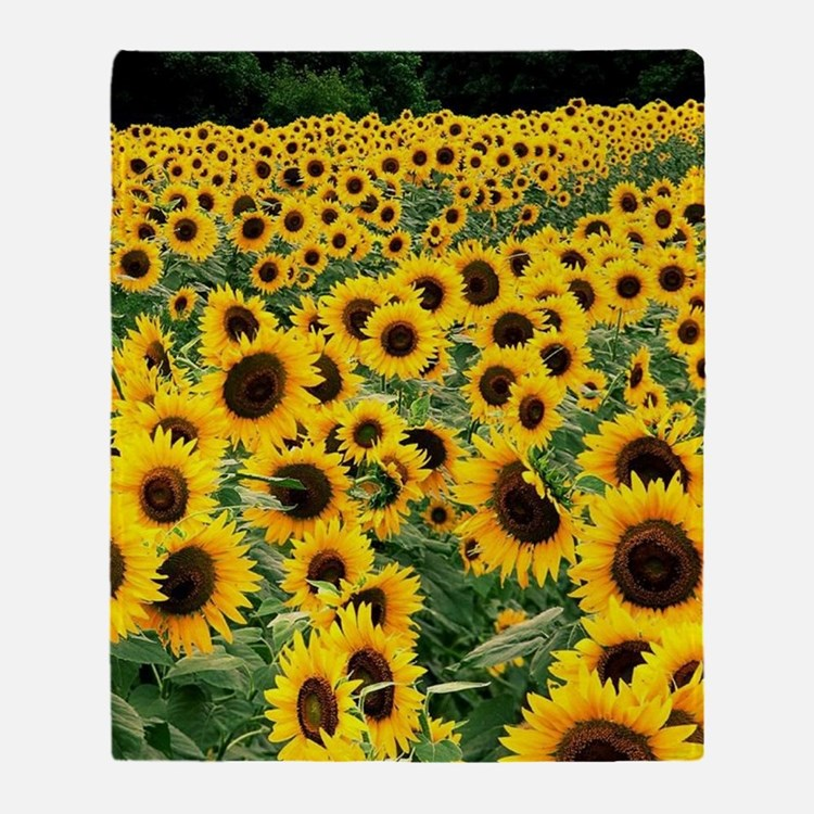 Sunflowers Throw Blanket