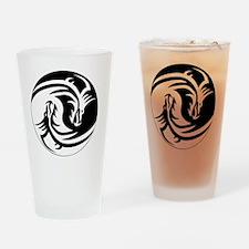 Dragon Ying Yang Drinking Glass
