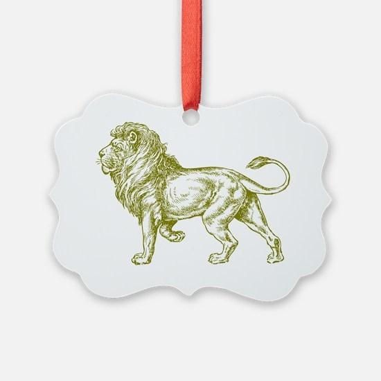 Lion Gold Ornament