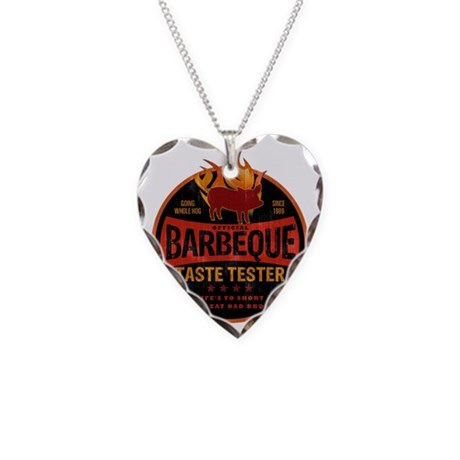 bbq lover Necklace Heart Charm