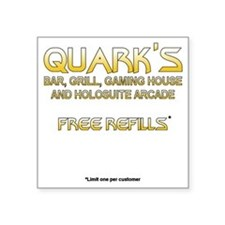 "quarksshirtfront Square Sticker 3"" x 3"""