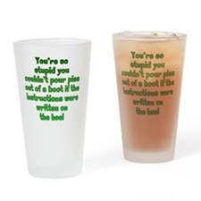 piss-boot_rnd2 Drinking Glass