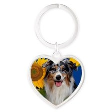 AUS Shep greeting Heart Keychain