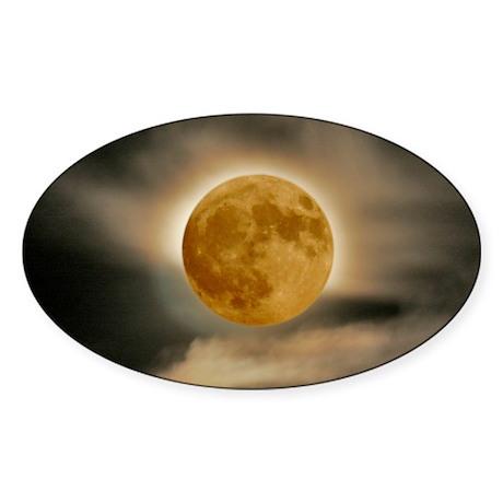 large framed moon Sticker (Oval)