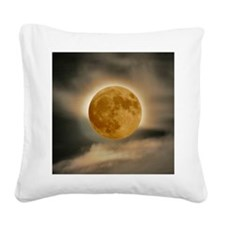 framed panel moon Square Canvas Pillow