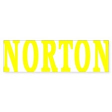 NORTON BEST YELLOW Bumper Bumper Sticker