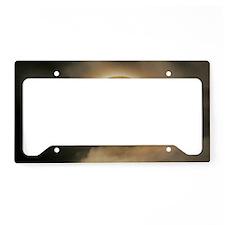 small framed moon License Plate Holder