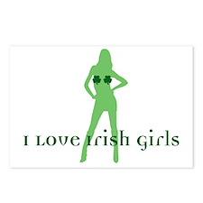 I Love Irish Girls Postcards (Package of 8)