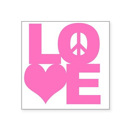 "love_pk_10x10 Square Sticker 3"" x 3"""