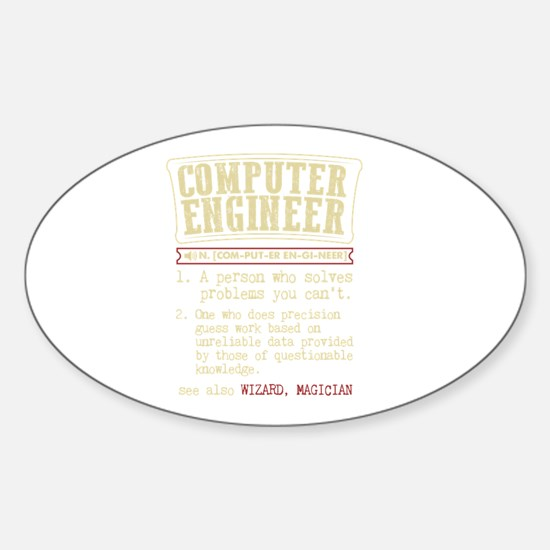 Computer Engineer Funny Dictionary Term Decal