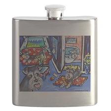 Schnauzer Busy House Flask